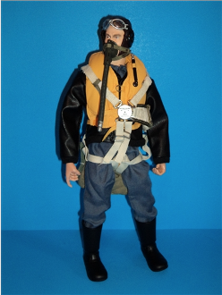 Warbird Pilot Figure - WWII German Luftwaffe - 10""