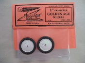 "Golden Age Wheels, 1"" dia., 1 pair"