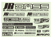 JR DMSS Decal Sheet: Metallic Black