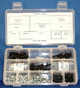 Starter Assortment, 4-40: Socket Cap Screws, Flat Washers, Lock