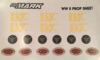 Dry Transfer Decal Sheet - WWII w/ Nomenclature