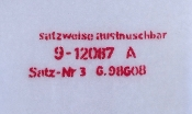 German ME109 Prop Nomenclature Decal Set