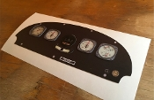 Piper Cub Instrument Panel Decal Set