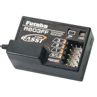 Futaba R603FF 3-Channel FASST Receiver 3PM/3PK/4PK
