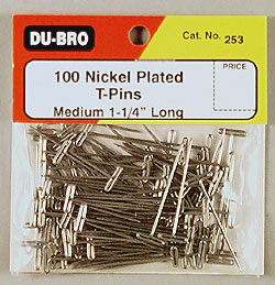 "Dubro T-Pins 1-1/4"" (100)"